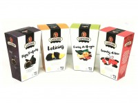 Pack 4 estuches gourmet: Frutas de Aragón, Guindas, Leticias e Higos trufados