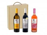 Pack Selección de vino tinto, rosado y blanco (3 botellas)
