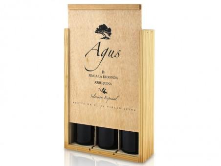 Estuche regalo de aceite de oliva Agus 25 cl (3 unidades)