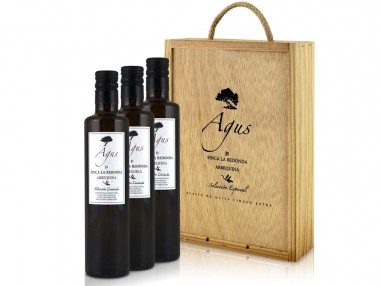 Estuche regalo de aceite de oliva Agus 50 cl (3 unidades)