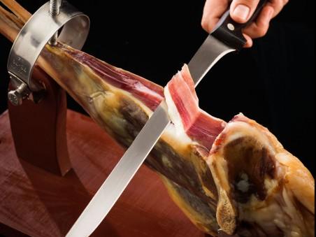 Pack de pierna curada de cordero + Jamonero + Cuchillo jamonero