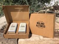 Maleta regalo de 2 aceites de oliva virgen extra Molino Alfonso