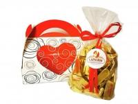 Caja Regalo con Bombones Gianduiotti clásico con crema de avellana.