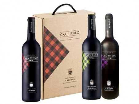 Estuche de 3 vinos Cachirulo (Rojo, Verde y Morado)